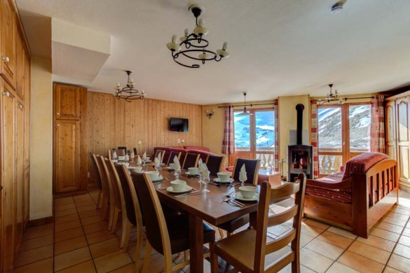 Chalet Poire, Val Thorens, France, Dining Area