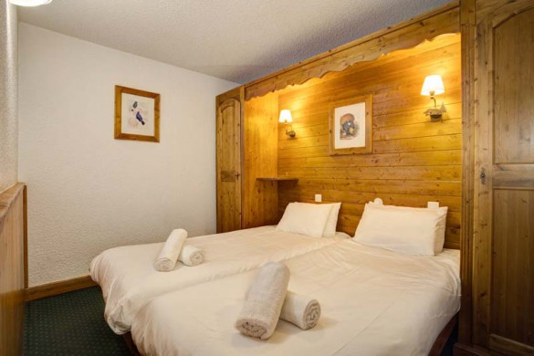 Chalet Renod, Val Thorens, France, Twin Bedroom