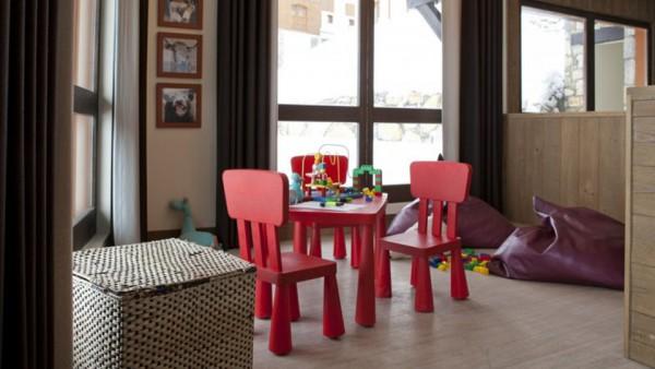 Child play area, Residence Les Nereides, La Plagne, France