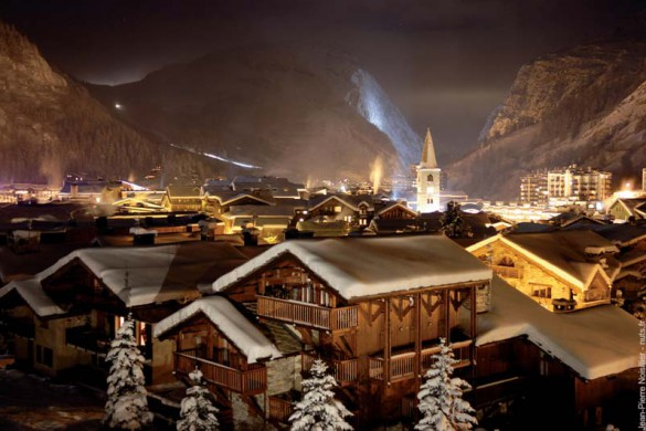Church at Night, Val d'Isere, France