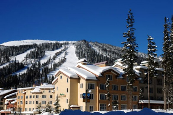 Condo Nancy Greene's Chahilty Lodge, ext, Sun Peaks