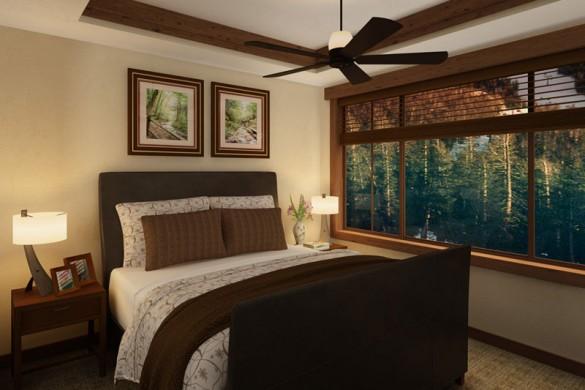 Condo One Ski Hill Place bedroom, Breckenridge