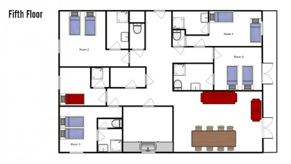 Chalet Corelli, Courchevel Moriond, Floorplan