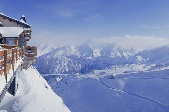 Breathtaking views in Courchevel ski resort, France