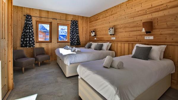 Twin room, Chalet Crocus Blanc, La Plagne, France