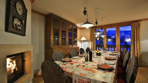 Dining Room in Chalet Panoramique - Ski Chalet in La Plagne, France
