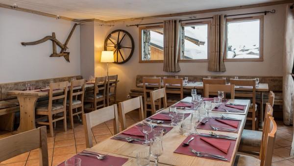 Dining room in the Ski Lodge Aigle, Tignes, France