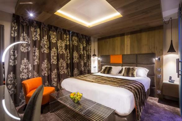 Double Bedroom, Hotel Taj-I-Mah - Ski Hotel in Les Arcs, France