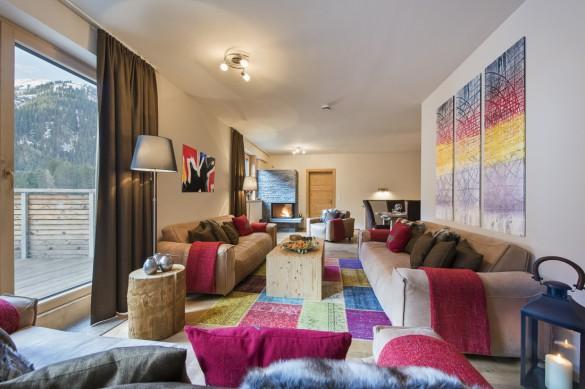 Living Area, Chalet Nimbus, St. Anton, Austria