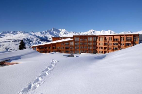 Edenarc apartments snowy exterior, Les Arcs