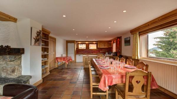 Dining Lounge Area, Chalet Elodie - ski chalet in Meribel, France