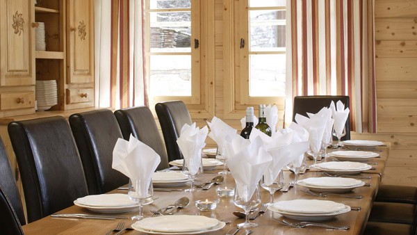 Chalet Estrella dining room, Courchevel