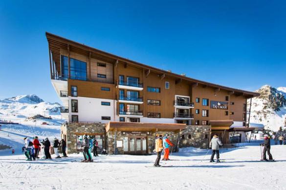 Exterior Day, Hotel Taj-I-Mah - Ski Hotel in Les Arcs, France