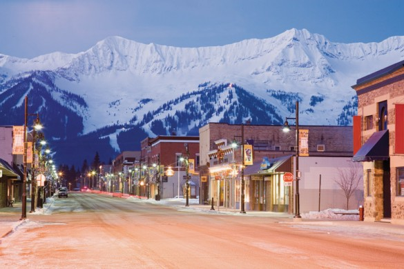 The streets of Fernie town, Canada