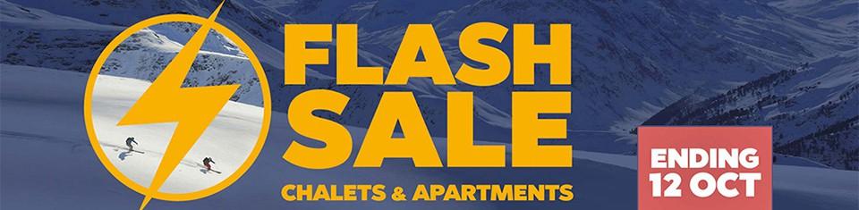 Flash Sale - Huge Savings on Ski Holidays - Banner