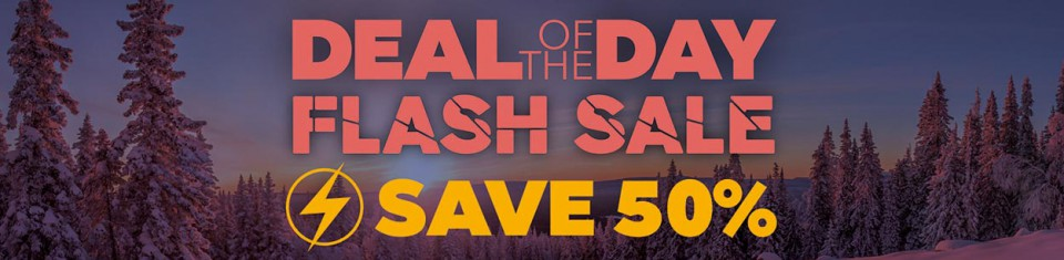 Deal of the day - Flash Sale - Save 50 percent