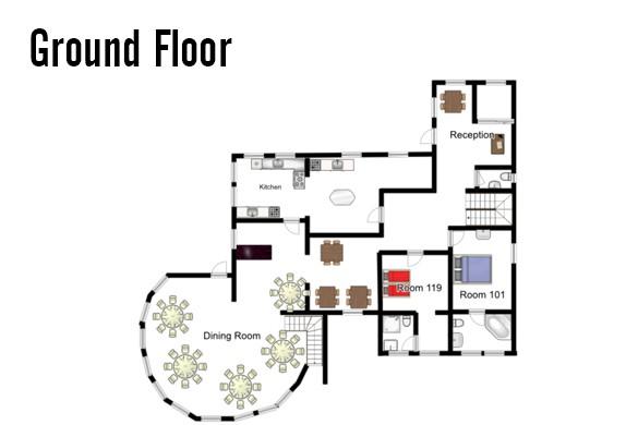 Floorplan of Chalet Stoanerhof, Mayrhofen, Austria, Ground Floor