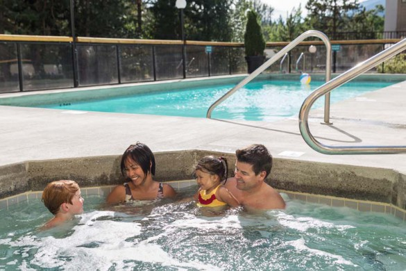Crystal Lodge, Whistler, Canada, Outdoor Hot Tub