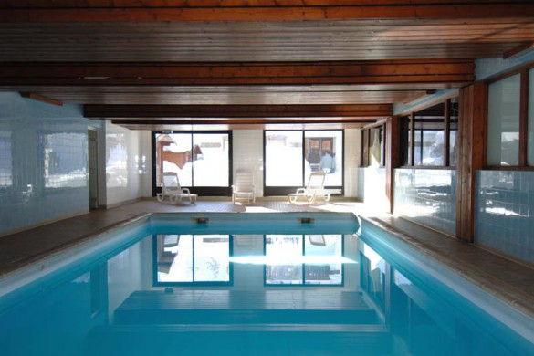 Hotel Chalet Alpina, swimming pool, Tignes