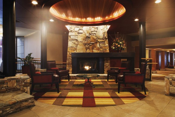 Fireplace in the Hilton, Whistler