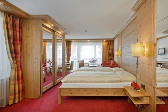 Hotel Holiday, bedroom, Zermatt, Switzerland