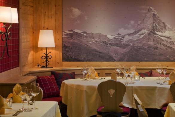 Hotel Holiday, restaurant, Zermatt, Switzerland