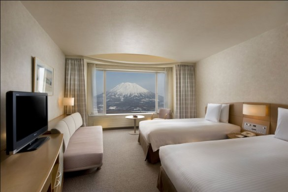 Hilton niseko Village bedroom, Niseko ski resort, Japan