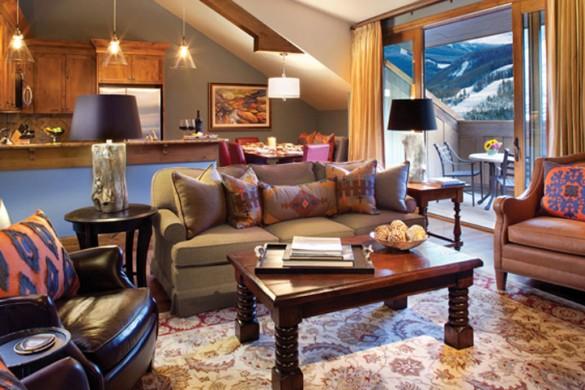 Hotel Sebastian lounge, Vail