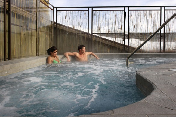Hotel Terra hot tub, Jackson Hole
