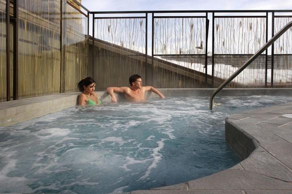 Hotel Terra hot tub, Jackson Hole
