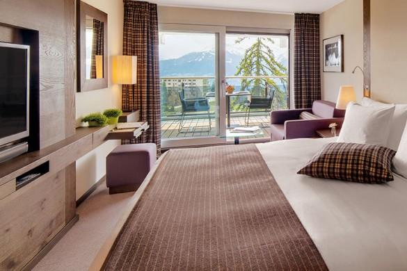 Crans Ambassador Hotel-Bedroom-Ski Hotel in Crans Montana, Switzerland