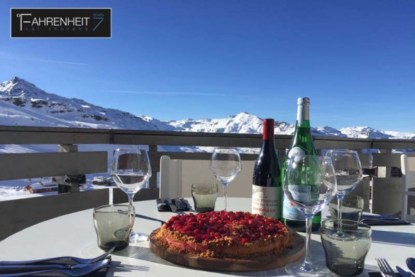 Hotel Fahrenheit 7, Val Thorens, France, Dining on the Terrace