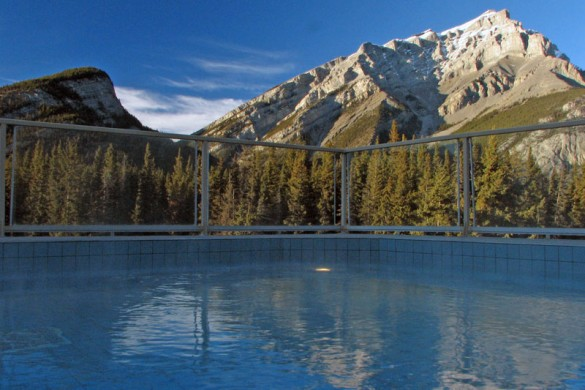 Inns of Banff, outside hot tub, Banff & Lake Louise