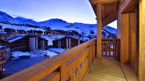 Balcony - Chalet Iris Bleu - Ski Chalet in La Plagne, France