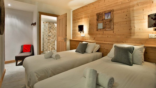 Bedroom Twin - Chalet Iris Bleu - Ski Chalet in La Plagne, France
