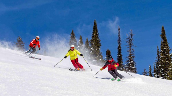 Jackson Hole Ski Resort, USA - Group skiing
