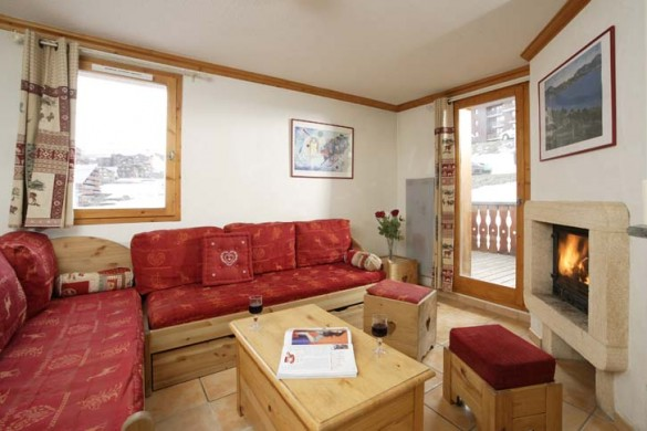 Living Area, Chalet Joly, La Plagne, France