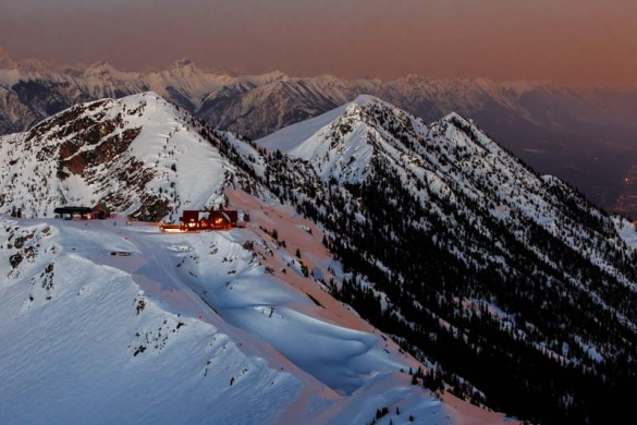 Kicking Horse, Canada, Mountain Lodge at Dusk