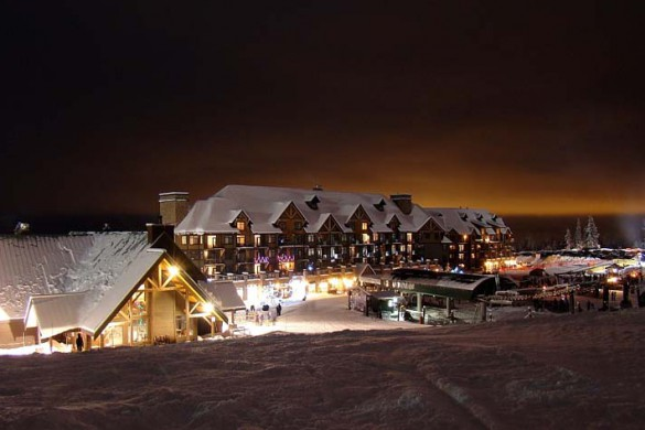 Kicking Horse, Canada, Village at Night