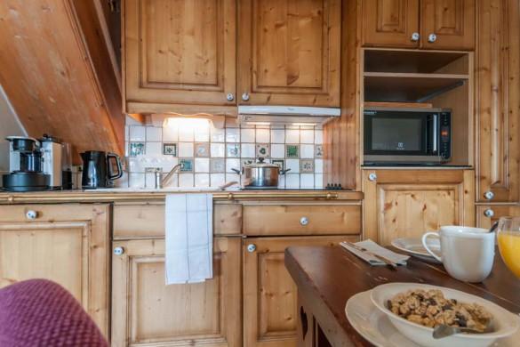 Kitchen in Les Fermes de Meribel - ski chalet in Meribel, France