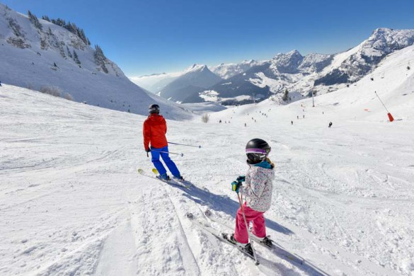 La Clusaz, France, Family Skiing