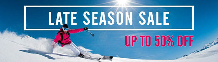 Late Season Sale - up to 50% off