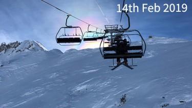 ski conditions in La Plagne