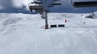 ski conditions in La Plagne