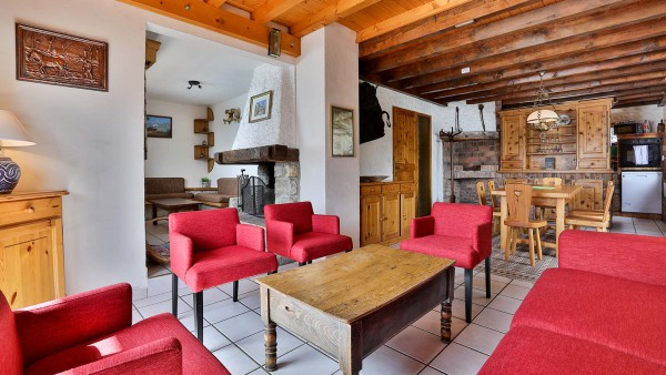 Living Area, Chalet Leopold, Meribel, France