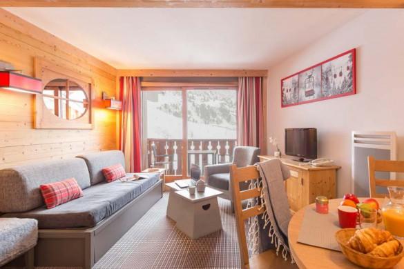 Les Crêts Apartments, Meribel, France, 2 Bedroom, 6 Person Apartment, Living Area