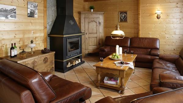 Chalet Les Rouses lounge area, Les Deux Alpes