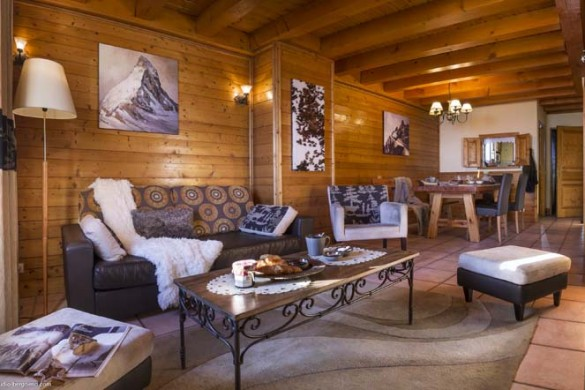 Chalet Lever de Soleil living room