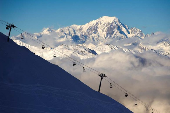 Lift above the clouds, Courchevel, France; David Andre
