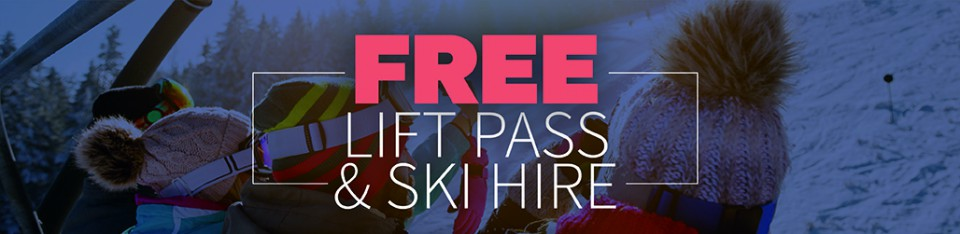 Free Lift Pass and Ski Hire